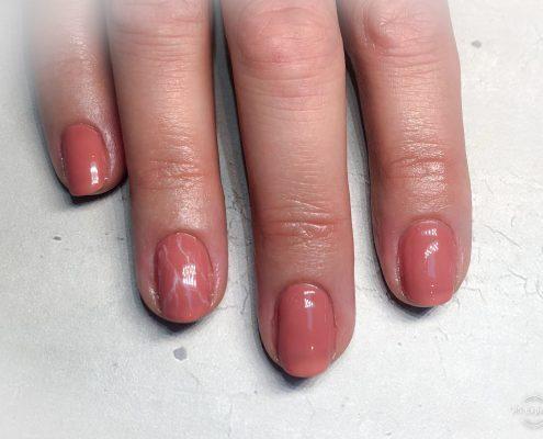 Gelpolish natuurlijke nagels icm Marble nail art