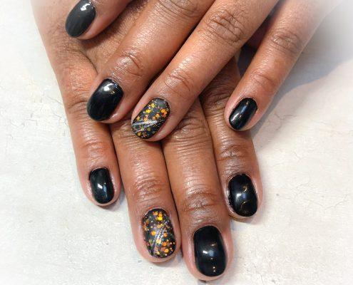 Gelpolish natuurlijke nagels icm nailart